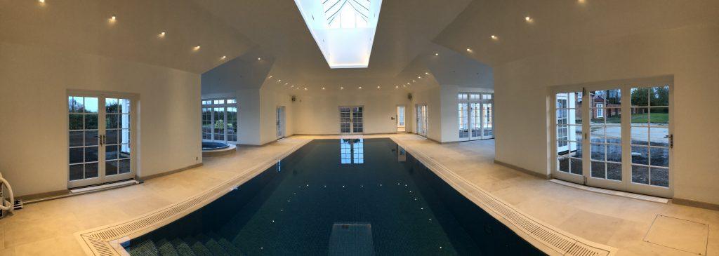 Deck level indoor pool