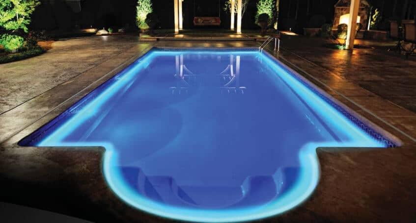 Perimeter pool lighting