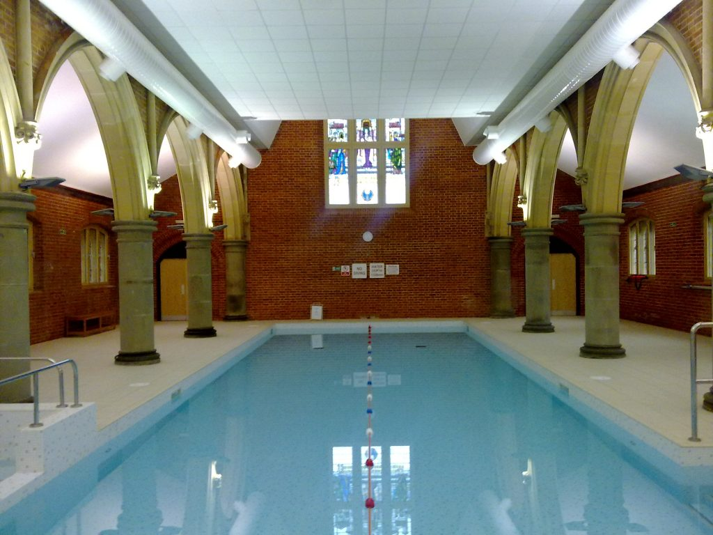 Refurbished church turned into a leisure centre