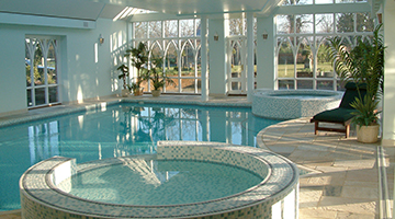 A beautiful Oxfordshire pool where building issues caused condensation problems till our pool designer swapped hats to trouble shoot the building design flaws